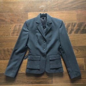 Express Charcoal and Blue Pinstripe Suit Blazer
